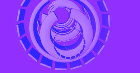 Abstract background with a futurist spiral making a pattern. 3D Illustration.