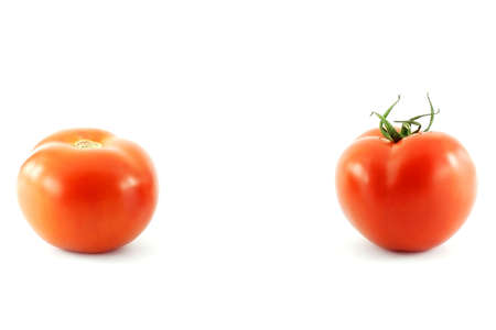 gobble: Two red tomatoes Stock Photo