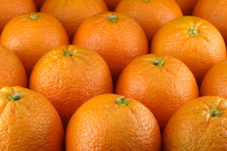 gobble: Close up of many oranges Stock Photo