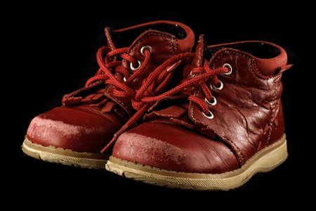 streifzug: Alte Kinder �ber schwarze Schuhe  Lizenzfreie Bilder