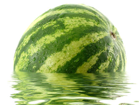 Watermelon in water Stock Photo