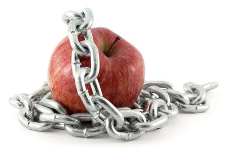 food chain: Forbidden Fruit Stock Photo
