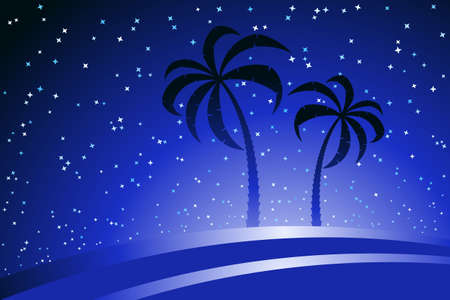 afterglow: Palm Trees