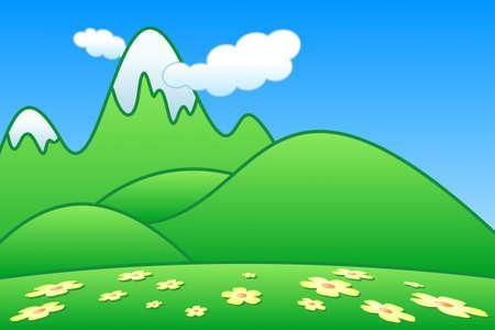 ridge: Green Mountains Stock Photo