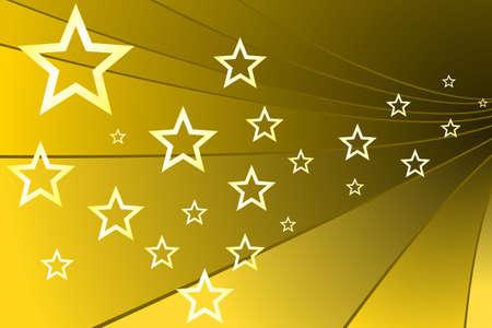 gilded: Gold Stars Stock Photo