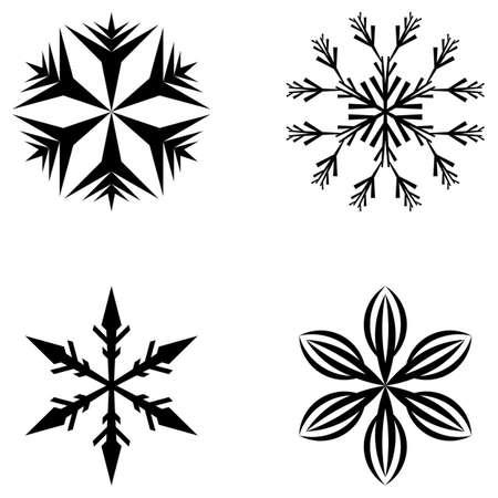 Snowflakes Vektorgrafik