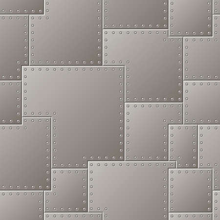 Seamless Steel Plate Pattern Vector