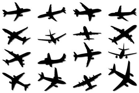 aeronautic: Plane Silhouettes