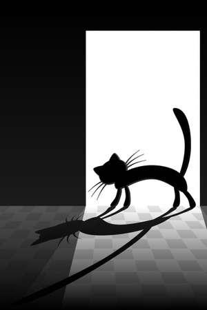 piso negro: La llegada de un gato