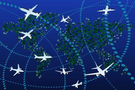 air traffic: Aviaci�n Vectores