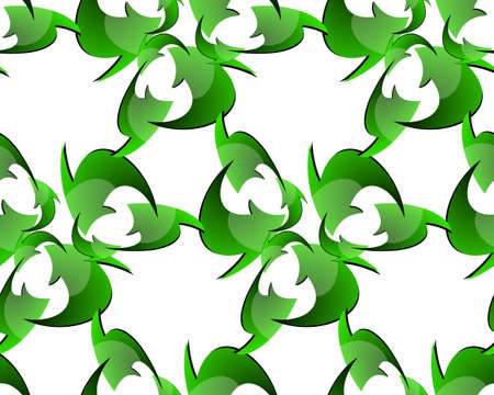 Seamless Recycle Sign Pattern Vector