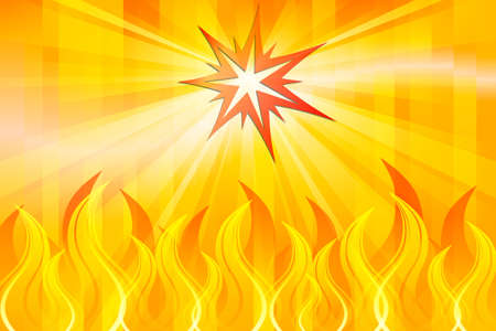 Abstract Fire Stock Vector - 12019314