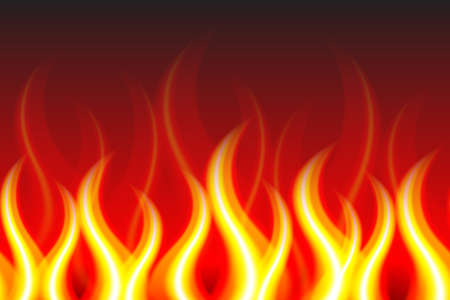 Horizontally Seamless Fire Pattern