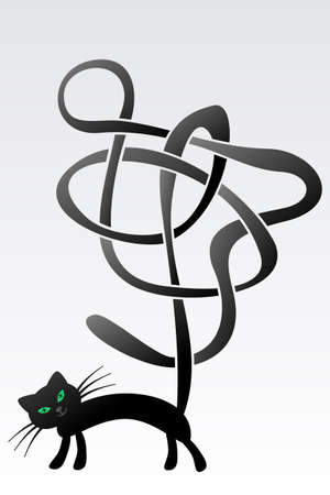 The Celtic Cat Stock Vector - 18537998