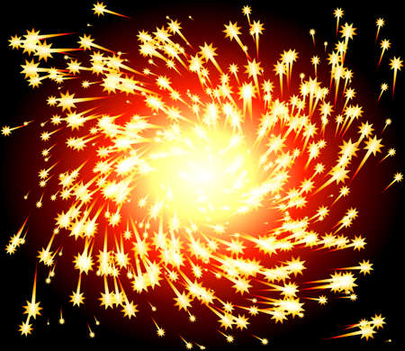 Fiery Spark Twirl Illustration