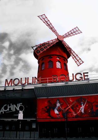 rouge: Moulin Rouge isolated colour Editorial