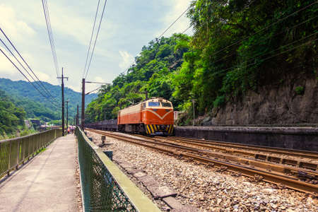 Freight Train on PingXi Line, Taiwan Banque d'images
