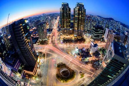 Korea,Seoul city skyline at night Editorial