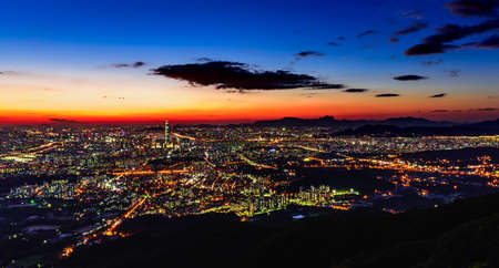 thump: Korea,Seoul city skyline at night Stock Photo
