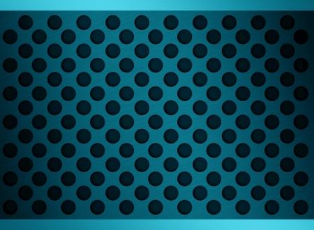 netty: metallic blue holes Stock Photo