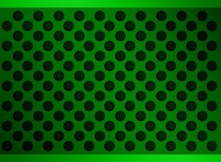 green metal holes photo