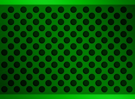 netty: green metal holes