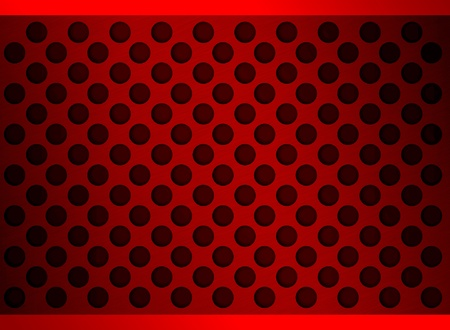 red metal holes Stock Photo
