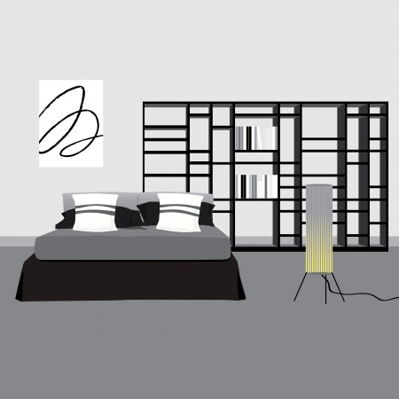 Bedrooms and chic Vector