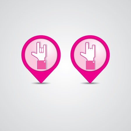 Check-in Love Vector
