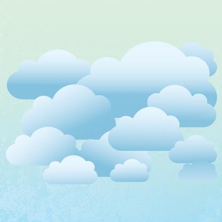 Zusammenfassung Cloud Hintergrund Vektorgrafik