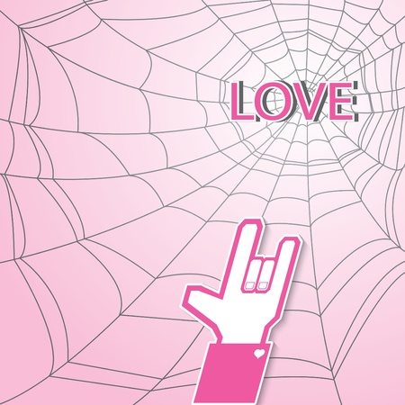 Cobweb love Vector