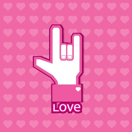 Love symbol,Background Illustration