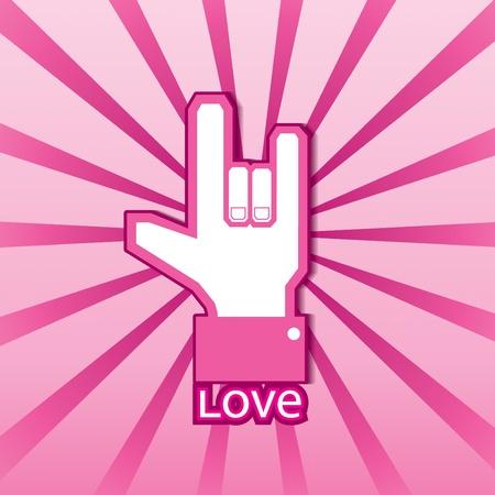 같은: 사랑의 상징 일러스트