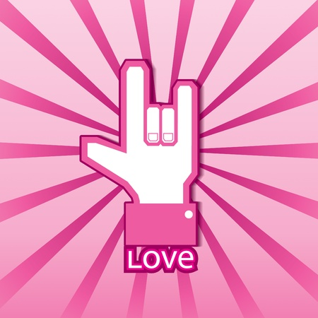 like button: Love symbol