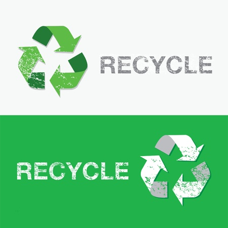 recyclable: recycle sign Illustration