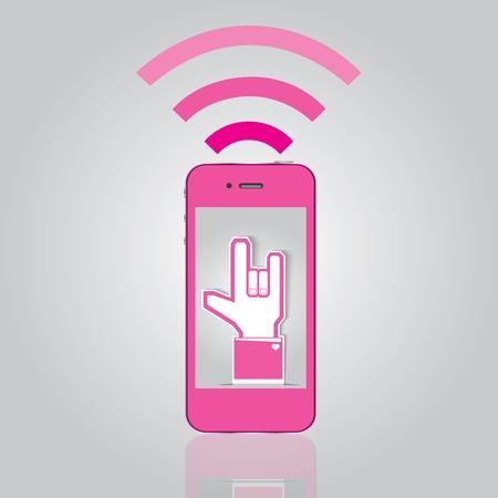 love on mobile Illustration