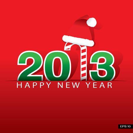 New 2013 year, illustration, happy new year Illustration
