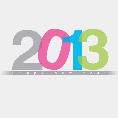 2013 Happy New Year design, background,  illustration