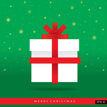 Merry Christmas gift box illustration