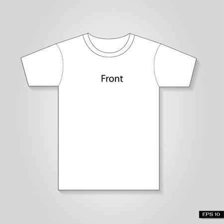 T-shirts Front template Illustration