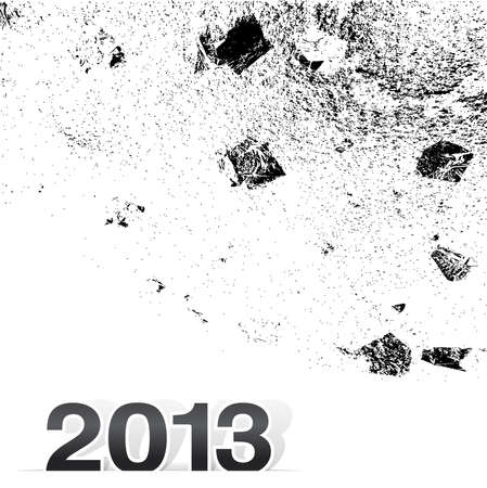 2013 Happy New Year design, background texture  illustration