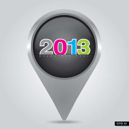 check in Happy New Year Stock Photo