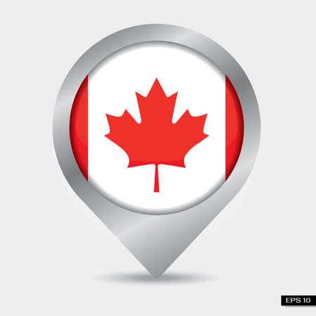 Check-in Canada flag Stock Photo