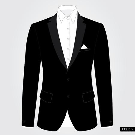 Black suits. Vector. Illustration