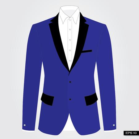 Blue suits. Vector