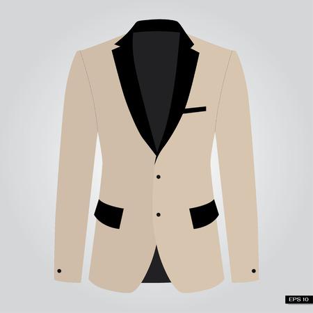 Brown suits. Vector.