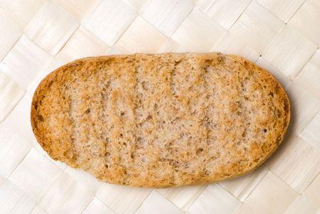 burnt toast: Crispy bread slice on reed setting
