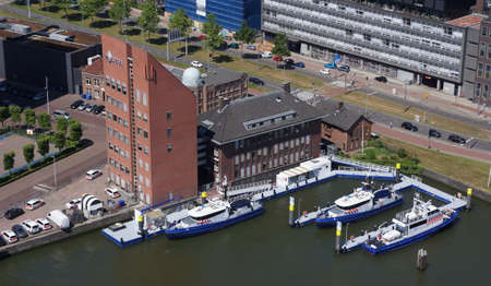 Harbor police in Rotterdam in the Netherlands
