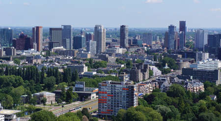 Skyline of Rotterdam in the Netherlands Editorial