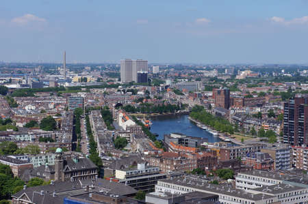 The cities of Rotterdam and Schiedam in the Netherlands